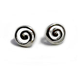 Sterling Silver Greek Spira Stud Earrings, Diameter 10mm