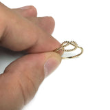 14k Yellow Gold Twisted Cable Knot Ring, Size 7
