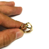 14k Yellow Gold Womens Fancy Infinity Ring, Size 7