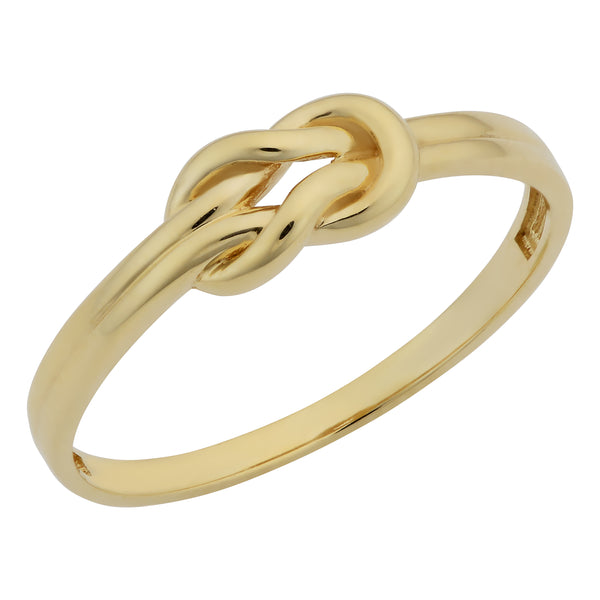 14k Yellow Gold Love Knot Ring