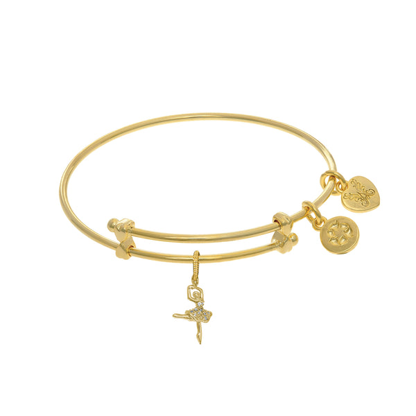 Ballerina  Charm Adjustable Bangle Girls Bracelet