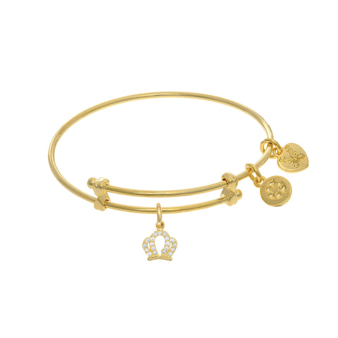 Crown Charm Expandable Tween Bangle Bracelet