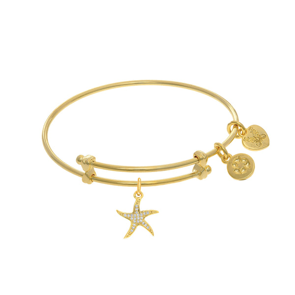 Star Fish Charm Adjustable Bangle Girls Bracelet