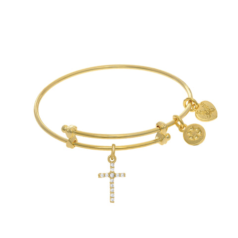 Cross Charm Expandable Tween Bangle Bracelet