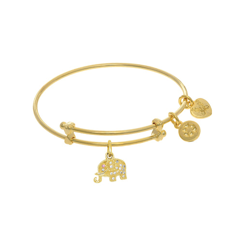 Elephant Charm Expandable Tween Bangle Bracelet