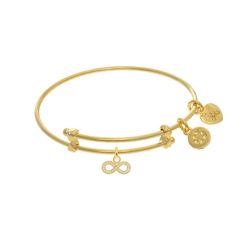 Infinity Charm Adjustable Bangle Girls Bracelet
