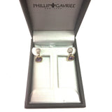 Phillip Gabriel 18k Gold And Sterling Silver Amethyst Drop Earrings