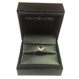 18k Gold And Sterling Silver Amethyst Heart Fancy Ring