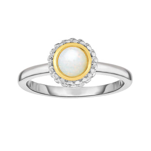 18k Gold And Sterling Silver Opal Fancy Ring