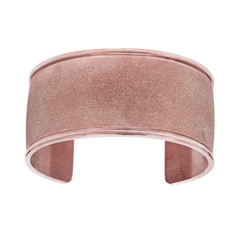 Rose Glitter Bracelet Cuff In Stainless Steel