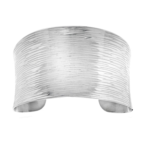 Nature Inspired Design Stainless Steel Bracelet Cuff - JewelryAffairs  - 1