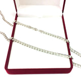 14k White Gold Miami Cuban Link Chain Necklace - Width 5mm - JewelryAffairs  - 4