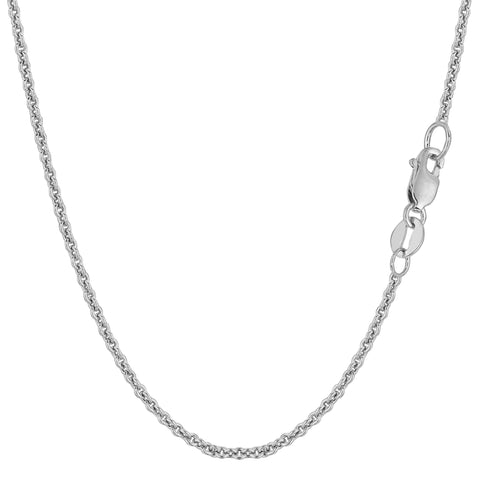 14k White Gold Forsantina Chain Necklace, 1.9mm - JewelryAffairs  - 1