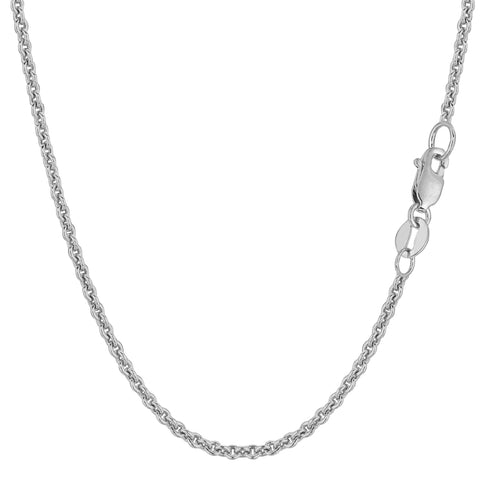14k White Gold Forsantina Chain Necklace, 2.3mm - JewelryAffairs  - 1
