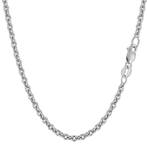 14k White Gold Forsantina Chain Necklace, 3.1mm