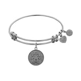 Stipple Finish Brass Girl Angelica Bangle Bracelet, 7.25""