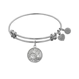 Stipple Finish Brass The Sea Angelica Bangle Bracelet, 7.25""