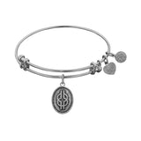 Smooth Finish Brass Wisdom Knot Angelica Bangle Bracelet, 7.25""