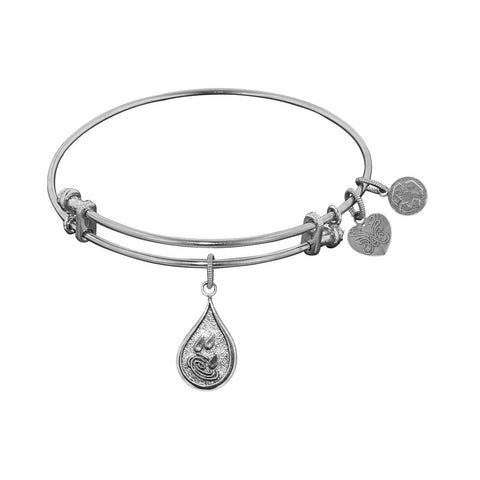 Stipple Finish Brass Water Angelica Bangle Bracelet, 7.25""