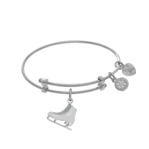 Ice Skating Boot Charm Expandable Tween Bangle Bracelet