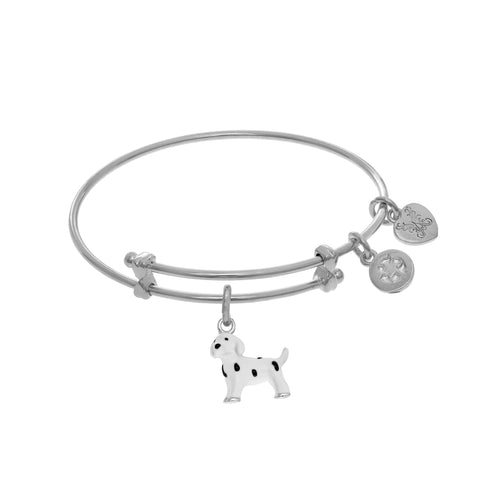 Dalmatian Enamel Charm Expandable Tween Bangle Bracelet