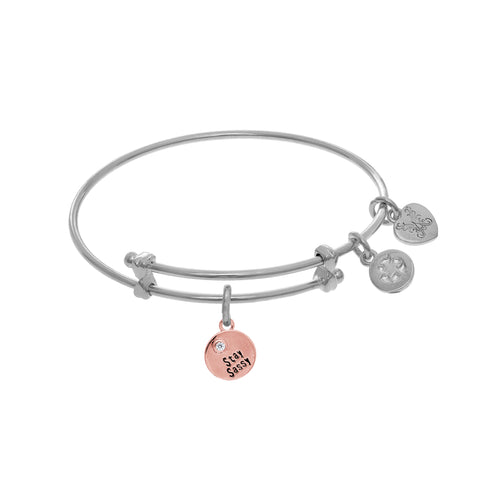 Stay Sassy Charm Expandable Tween Bangle Bracelet