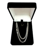 14k White Gold Comfort Curb Chain Necklace, 2.7mm