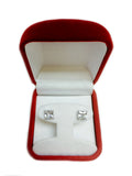 14k White Gold Princess Cut White Cubic Zirconia Stud Earrings - JewelryAffairs  - 10
