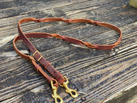 Flip Braided Leather Reins