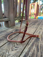Rolled ALL Leather Noseband