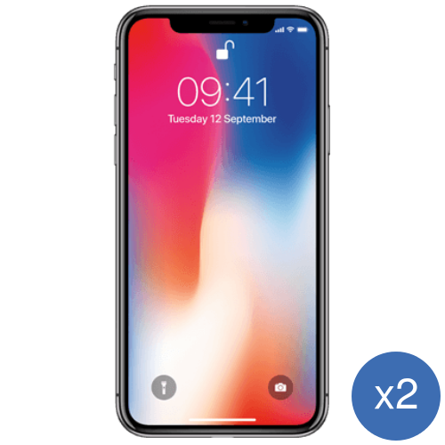 2x Apple iPhone X 64Gb - 32 GB / Black / Wood