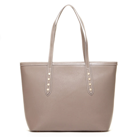 Ludlow Saffiano Leather Tote Bag Dark Dune