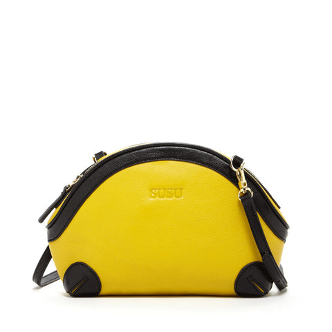 Coco Small Leather Crossbody Yellow