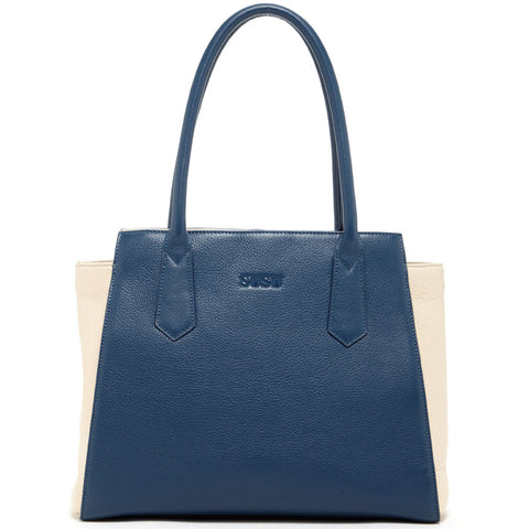 Jody Two Tone Leather Tote Shoulder Bag