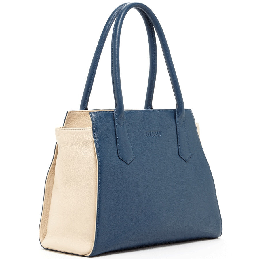 Blue leather purse l SUSU Handbags