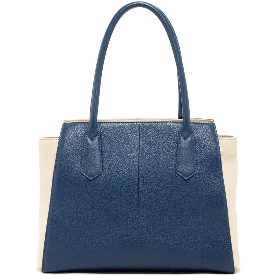Blue leather handbag l SUSU Handbags