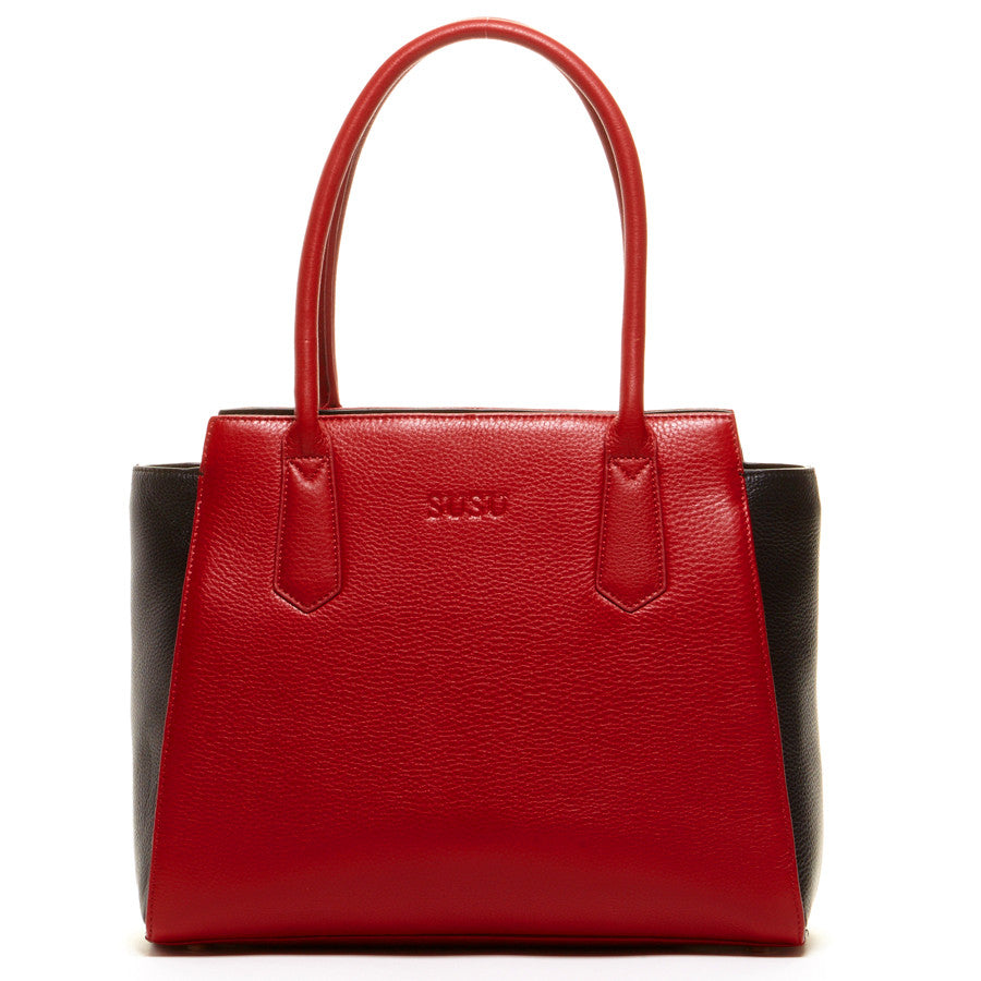 Red leather purse l SUSU Handbags
