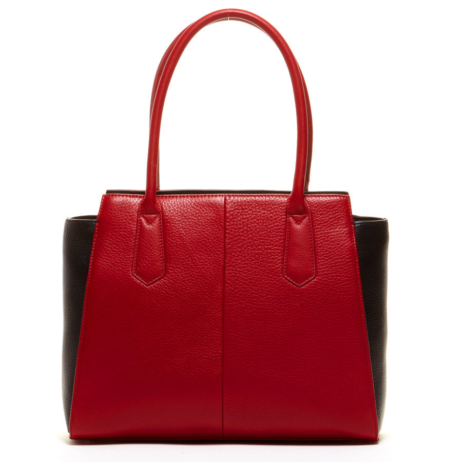 Red leather tote l SUSU Handbags