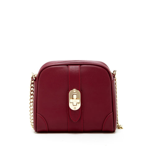 Baxter - Small Leather Crossbody Bag with Chain Strap