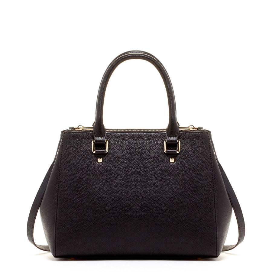 Black Satchel Tote Bag