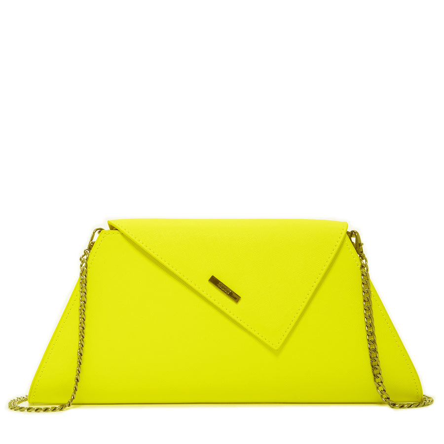 neon yellow clutch | SUSU Handbags
