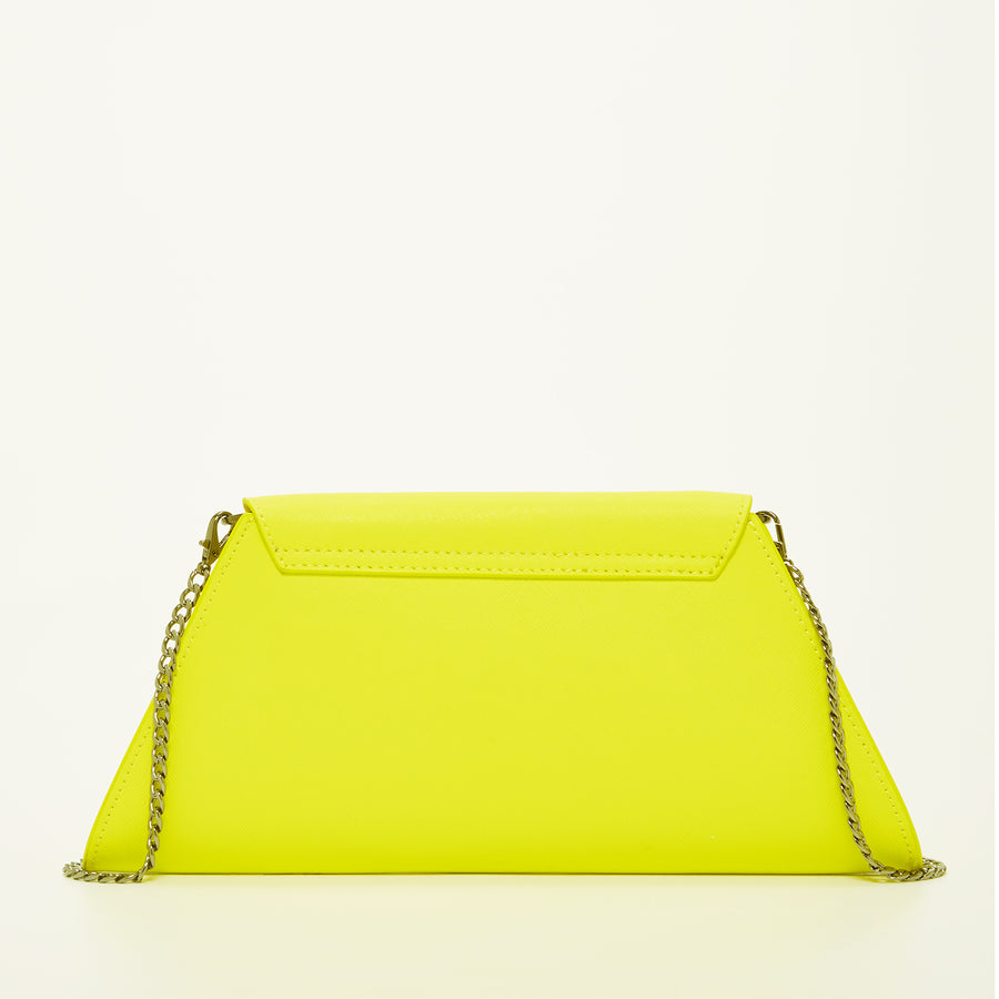Yellow Leather Clutch Purse