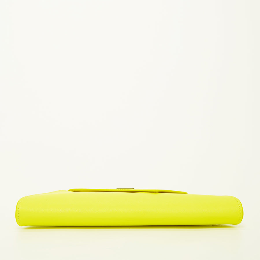 yellow leather clutch | SUSU Handbags