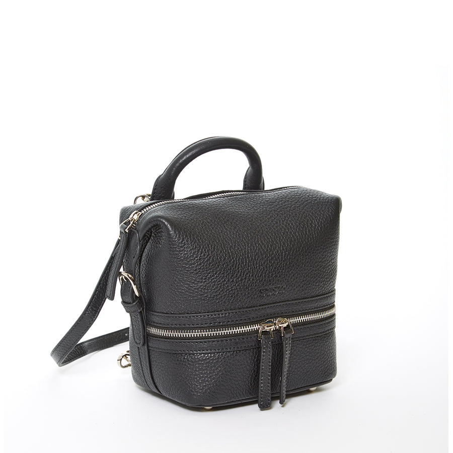 small black leather backpack | SUSU Handbags