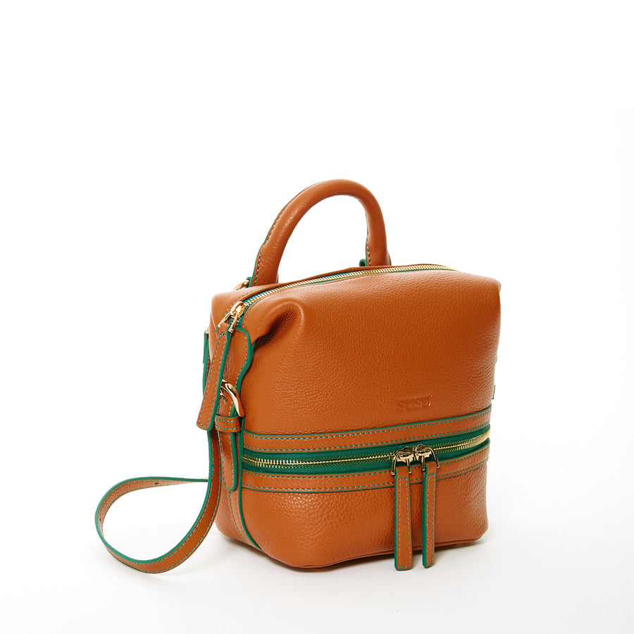 small brown leather backpack | SUSU Handbags