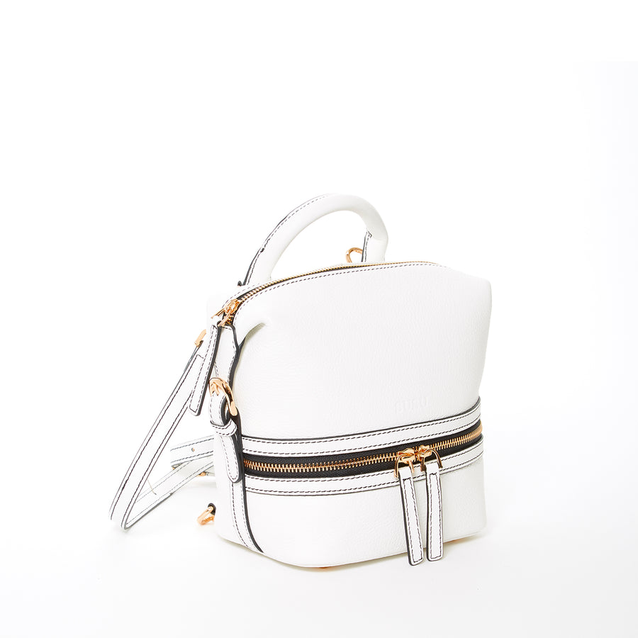 White Top Handle Backpack