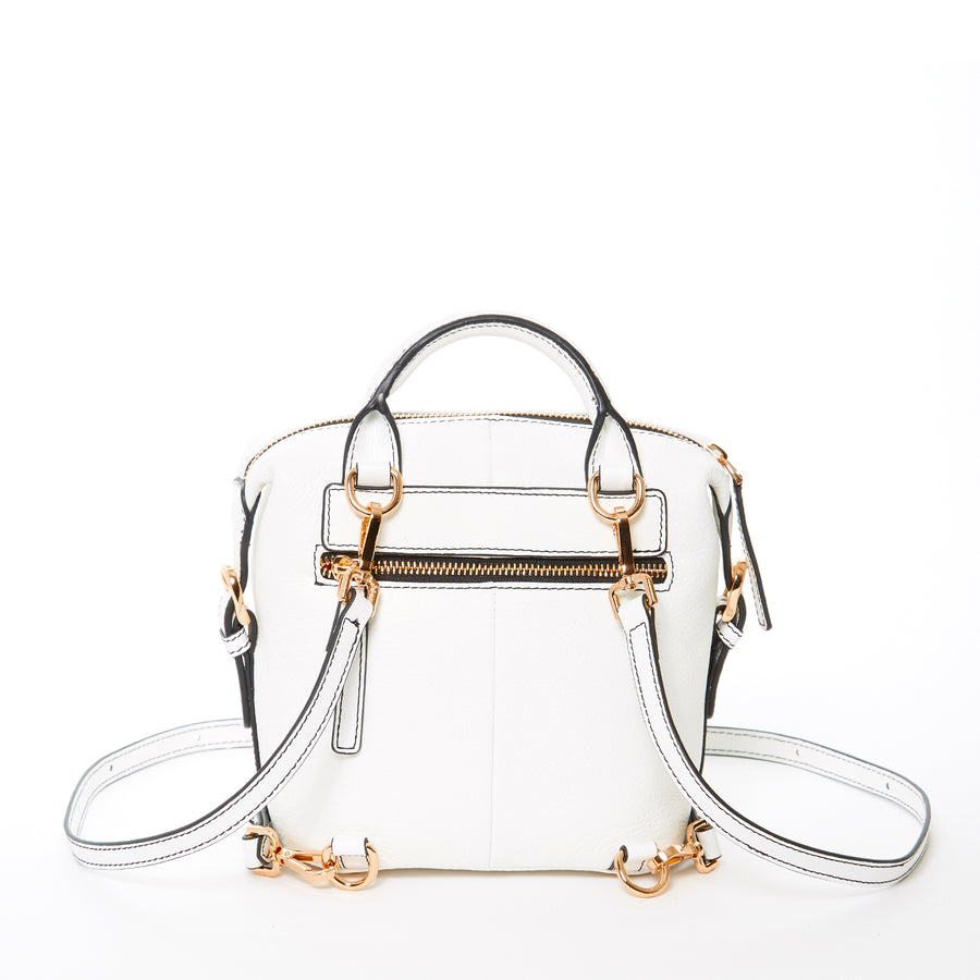 White Convertible Backpack | SUSU Handbags