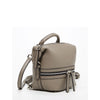 Ashley Mini Leather Convertible Backpack Gray