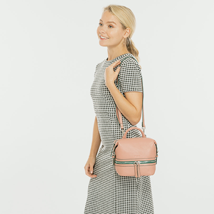 pink leather backpack | SUSU Handbags