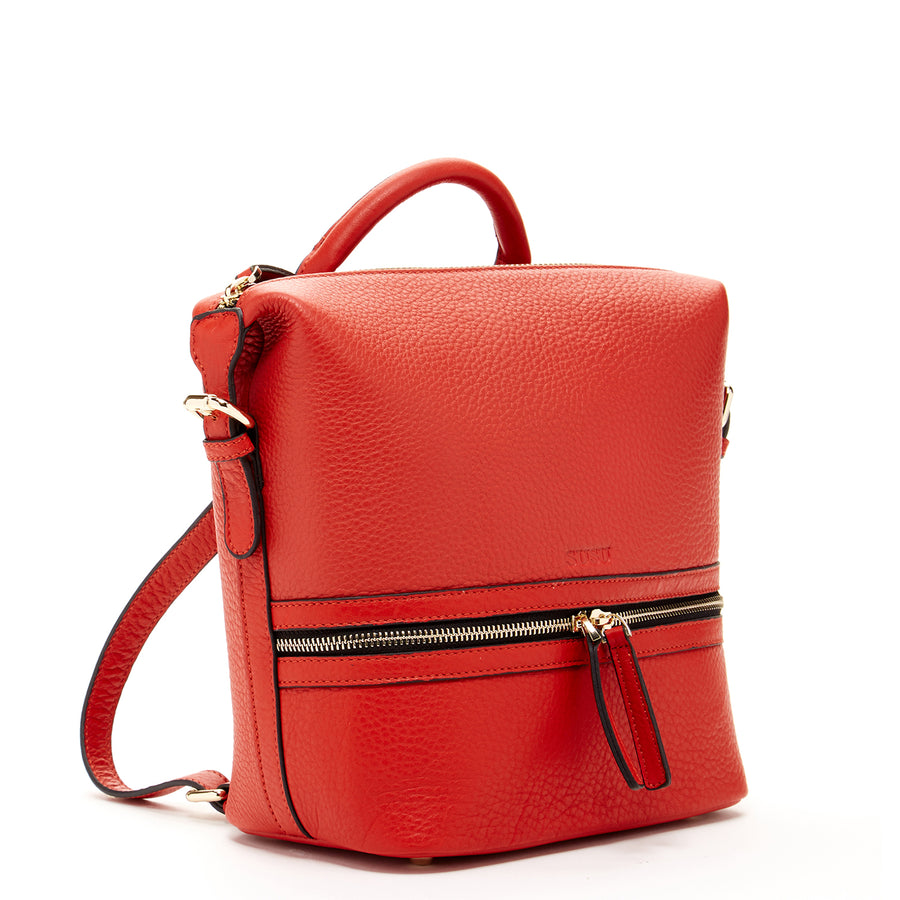 red leather backpack purse | SUSU Handbags